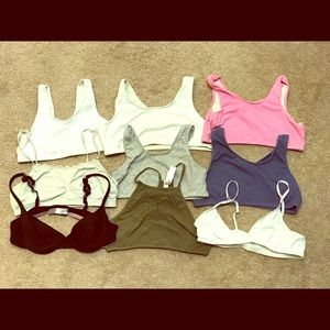 Lot of 9 Girls bras size large